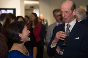 Nicole was introduced to HRH Duke of Kent Nicole与根德公爵交谈